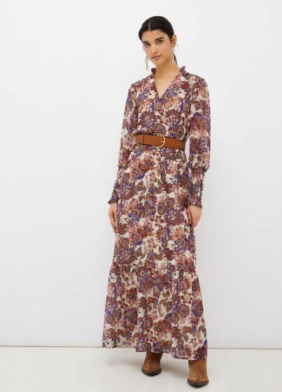 Dress Georgette Winter Fleurs