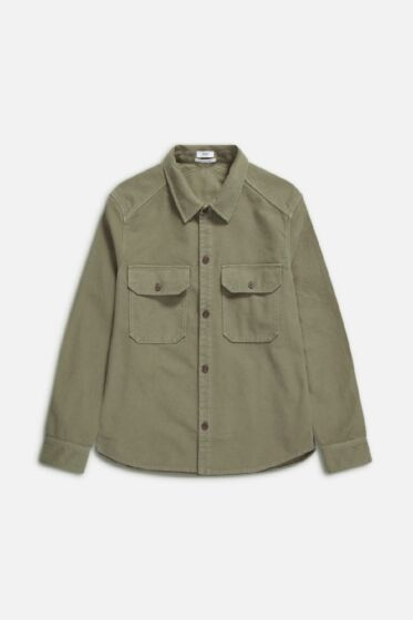 Army Overshirt Grey Fir