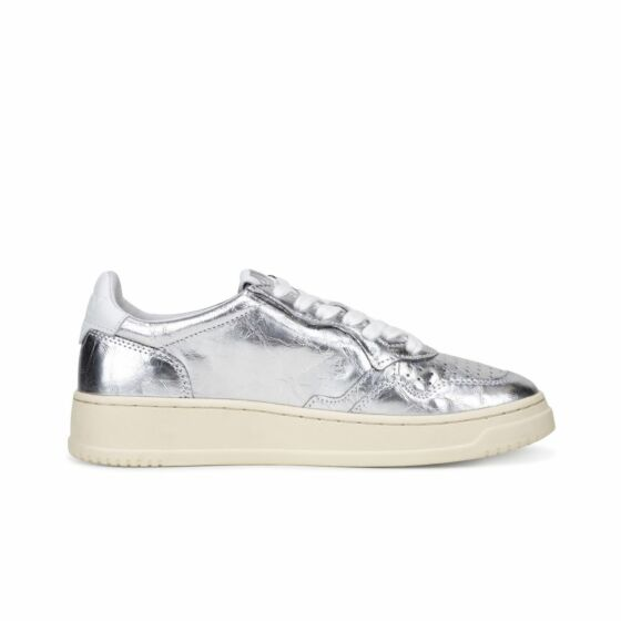 Low Leather Lamin Silver